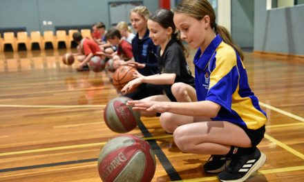 Basketball clinic scoring goals for youngsters